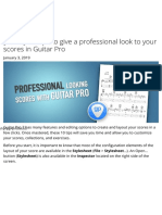10 Tips to give a professional look to your scores in Guitar Pro
