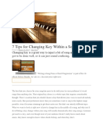 7 Tips for Changing Key Within a Song.docx