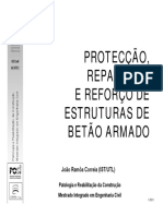 Proteccao, Reparacao e reforcode Estruturas de betao armado