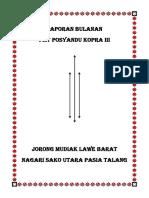 Laporan Bulanan Pmt Posyandu