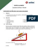Coeficientes de Fricción (Física I)
