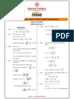 Nstse Solution L-1 Std 8 2015
