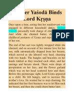 Mother Yaśodā Binds Lord Kṛṣṇa
