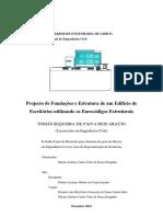 Projeto estrutura e fundacoes edificio