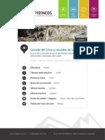 RUTAS PIRINEOS. Cascadas Cinca y La Larri