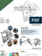 URBAN DESIGN Case Study,NOIDA Sector 18