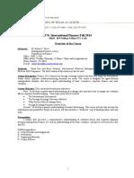 FIN 376 - International Finance - Duvic