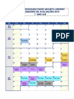 Calendario de Avaliações 2019 - 1° Ano