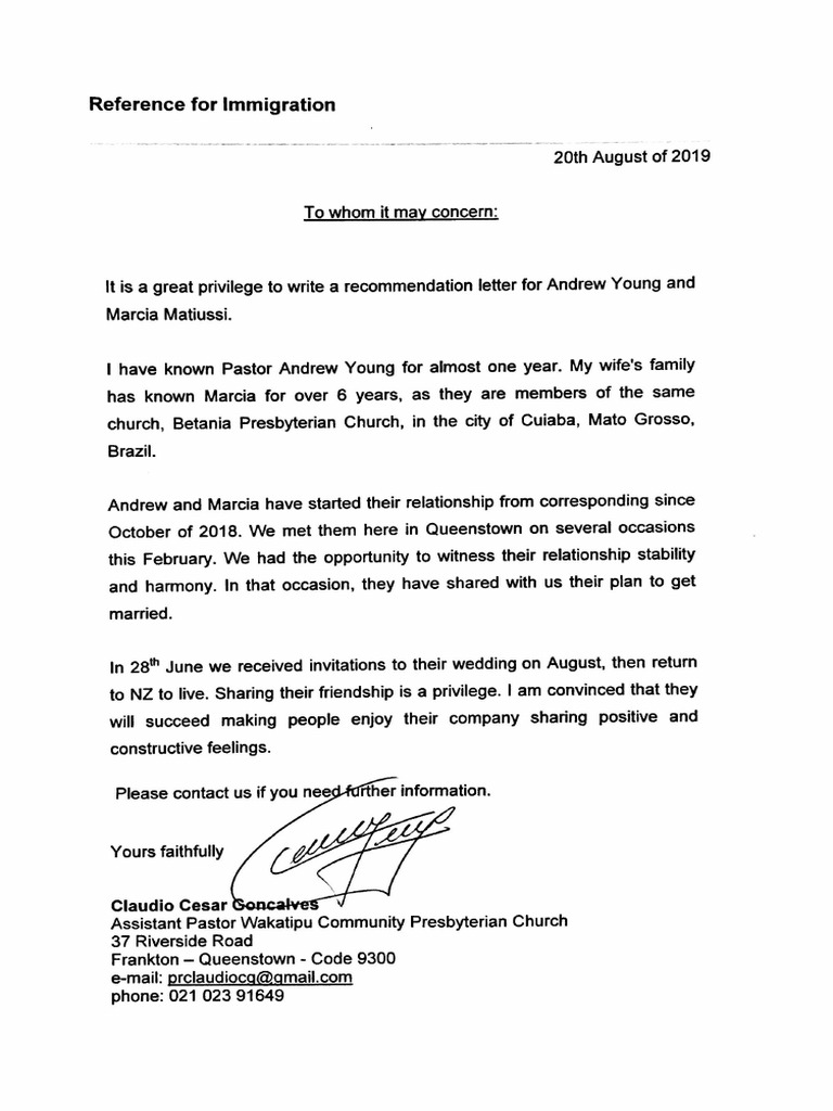 Church Recommendation Letter For Immigration from imgv2-1-f.scribdassets.com
