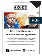 US-Iran Relations & the Iran Nuclear Agreement