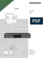 Grundig T22 service manual