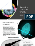 Biometría, ¿Cosa Del Futuro?  Ramiro Francisco Helmeyer Quevedo