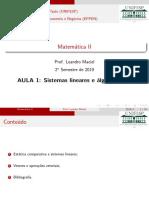 Aula 1 - cálculo 2 - matriz