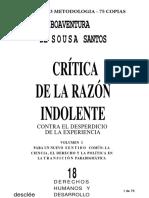 07011153 Sousa Santos - Crítica de La Razón Indolente
