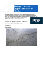 Cracks and shrinkage on Concrete