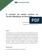 O Conceito de Infinito Positivo Na Terceira Meditação de Descartes