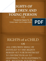 Rights of Children and Young Person