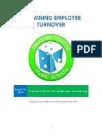 Fiscal 2019 Fauquier Public Schools Turnover Report