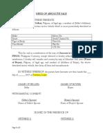 Deed of Absolute Sale_motor Vehicle
