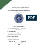 EXPORTACION DE CLASIFICACION DE CUEROS DE OVINO. CUEROS Y PIELES RITHIK SAC