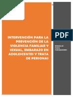 intervención violencia familiar, embarazo adolescente.