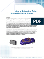 simulation of automotive radar mounted in vehicle bumper
