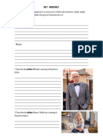 W10 - Good Place Pilot - Clothing and Physical Traits - Worksheet