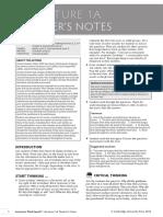 1A Teacher's Notes
