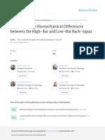 Areviewofthebiomechanicaldifferencesbetweenthehigh Barandlow Barback Squat