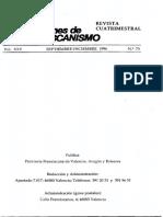 MICO J., Comentario a La Regla de 1223 (I). Selecciones de Franciscanismo 75 (1996) 376-404