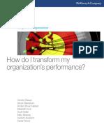 How Do i Transform My Organizations Performance
