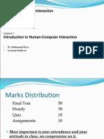 Human Computer Interaction 01