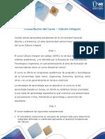 Presentación del curso Cálculo Integral