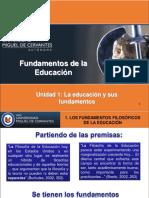 La Educación y Sus Fundamentos Unidad 1