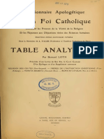 Dictionnaire Apologetique - Supplement