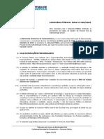 Edital concurso Florianópolis