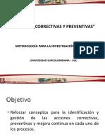 Acción Correctiva / Preventiva
