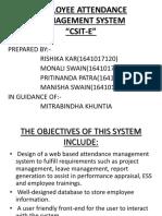 Employee Attendance Management System