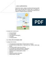 Energia Solar, usos y aplicaciones