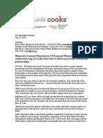 MFU Presents 17th Annual Minnesota Cooks Day