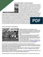 Historia Del Fubol Internacion y Nacional