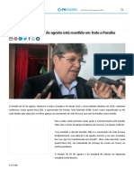 É Lei_ Feriado Do Dia 05 de Agosto Está Mantido Em Toda a Paraíba - PB AGORA