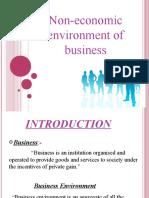 Entreprneurial Environment
