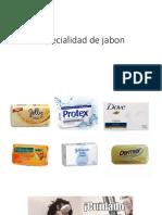 Especialidad de Jabon