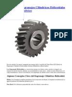 Cálculo de Engranajes Cilíndricos Helicoidales Sistema Milimétrico