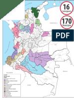 PDET municipios mapa