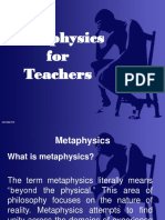 Metaphysics for Teachers