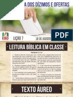 LIÇÃO 07  ADULTOS