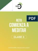 Reto Meditacion Clase 3