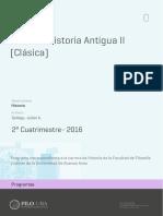 Uba Ffyl p 2016 His Historia Antigua II (Clásica)